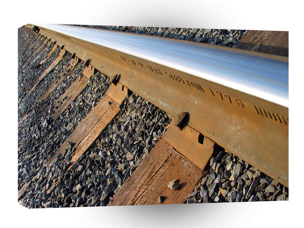 Abstract Transport Laying The Tracks A1 Xlarge Canvas