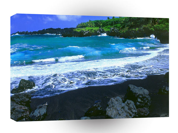 Abstract Water Black Beach Maui Hawaii A1 Xlarge Canvas