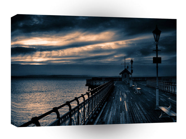 Abstract Water Boardwalk Sunset A1 Xlarge Canvas