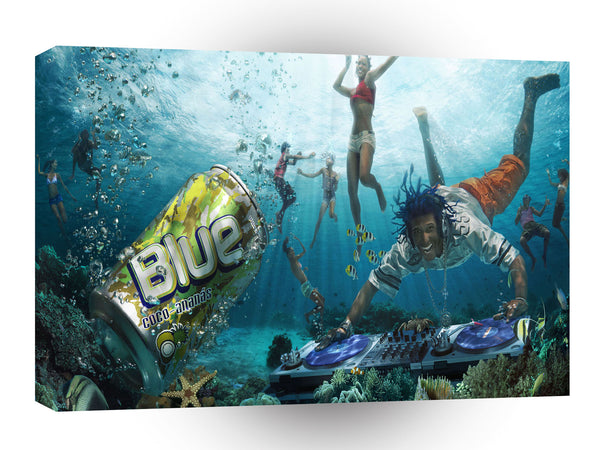 Abstract Water Caribbean Dj Fun A1 Xlarge Canvas