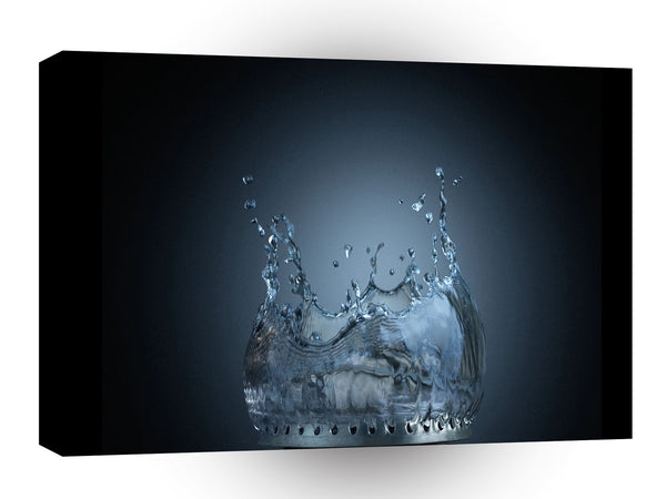 Abstract Water Gas Hob Flow A1 Xlarge Canvas