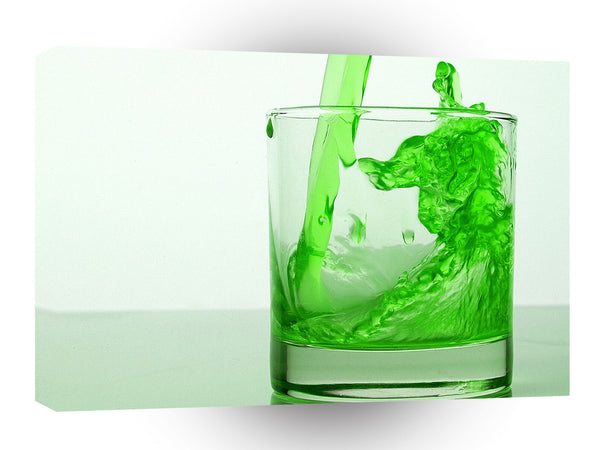 Abstract Water Green Liquid A1 Xlarge Canvas