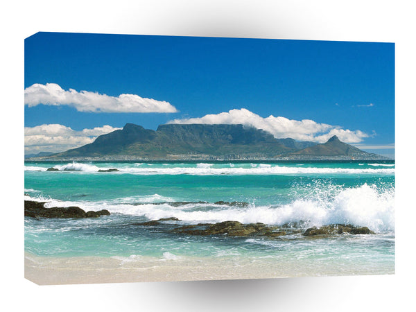Africa Coastline View Of Table Mountain South A1 Xlarge Canvas