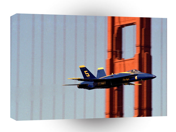 Air Power Blue Angel And The Golden Gate A1 Xlarge Canvas