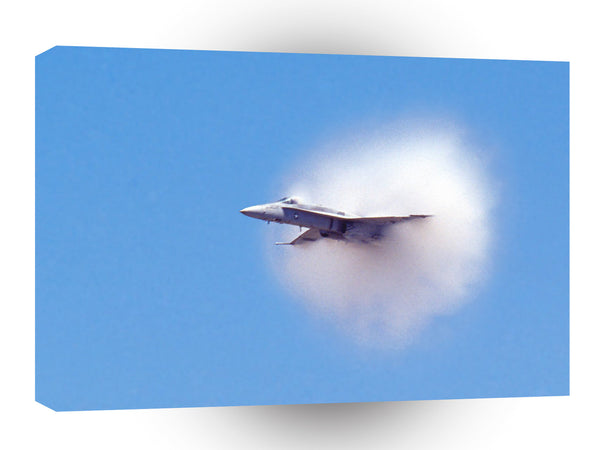 Air Power Breaking The Sound Barrier Fa 18 Hornet A1 Xlarge Canvas