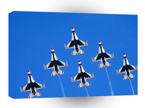 Air Power Six Ship Delta Thunderbirds A1 Xlarge Canvas