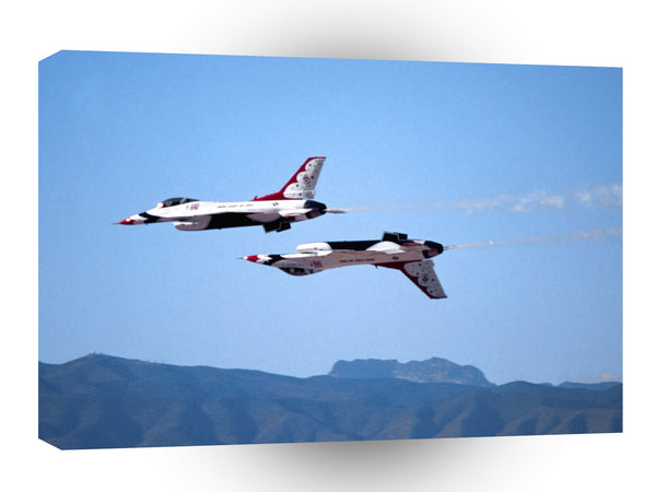 Air Power Solo Calypso Pass Thunderbirds A1 Xlarge Canvas