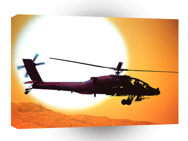 Air Power Us Army Attack Helicopter A1 Xlarge Canvas
