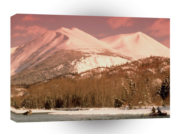Alaska Crimson Mountains Seward A1 Xlarge Canvas