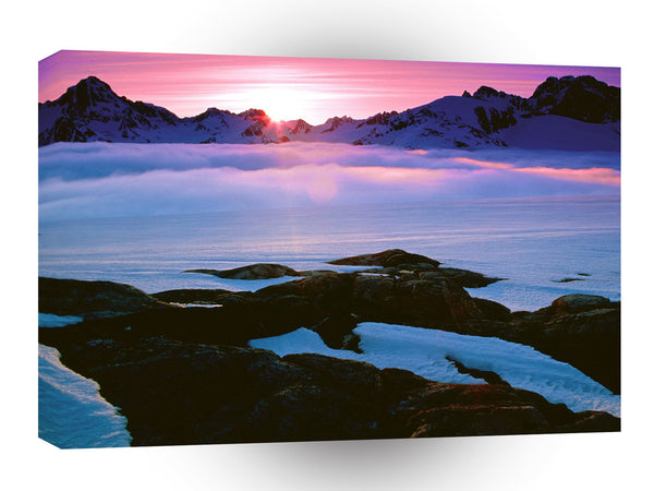 Antarctica Morning Light Colors The Snowfield Greenland A1 Xlarge Canvas
