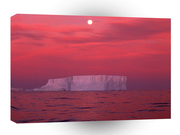 Antarctica Red Skies Antarctica A1 Xlarge Canvas