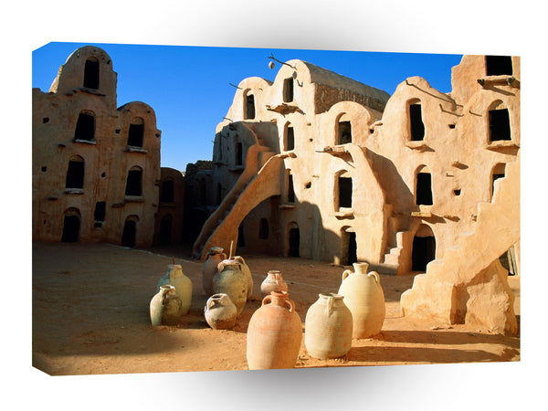 Architecture Ksar Ouled Soultane Tataouine Tunisia A1 Xlarge Canvas