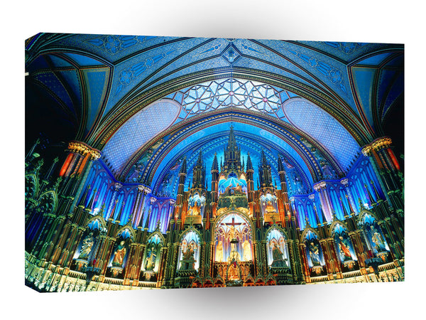 Architecture Notre Dame Basilica Montreal Canada A1 Xlarge Canvas