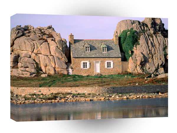 Architecture Plougrescant Brittany France A1 Xlarge Canvas