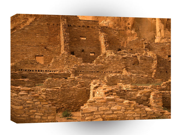 Architecture Pueblo Bonito Ruin New Mexico A1 Xlarge Canvas