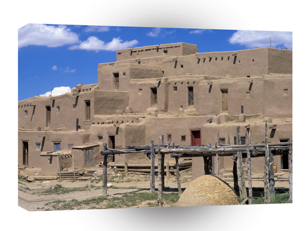 Architecture Taos Pueblo Taos New Mexico A1 Xlarge Canvas