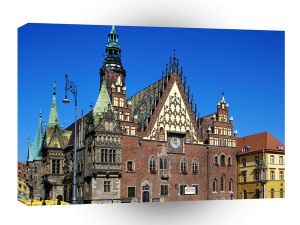 Architecture Town Hall Wroclaw Poland A1 Xlarge Canvas