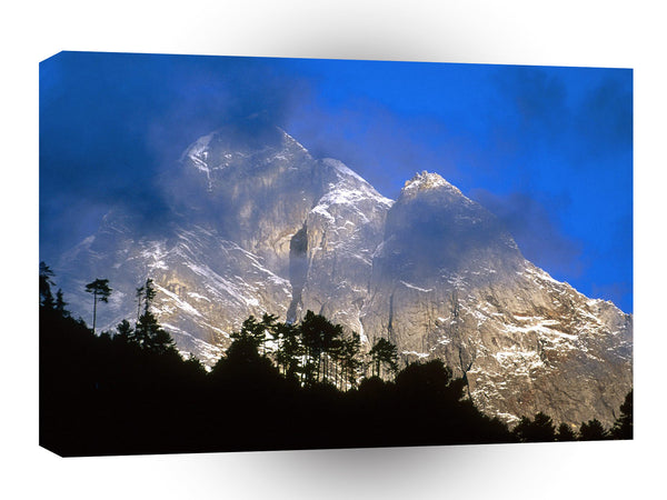 Asia Fair Weather At Sunrise Nepal A1 Xlarge Canvas