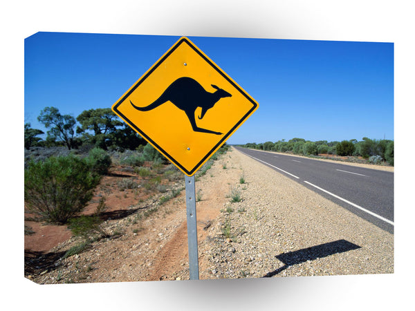Australia Kangaroo Crossing A1 Xlarge Canvas