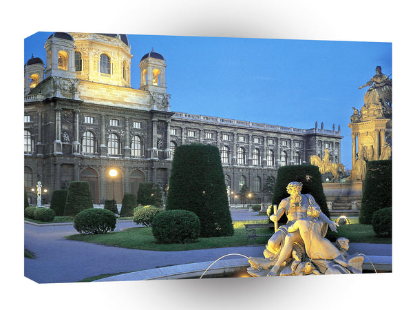 Austria Austrian Garden At Twilight Vienna A1 Xlarge Canvas