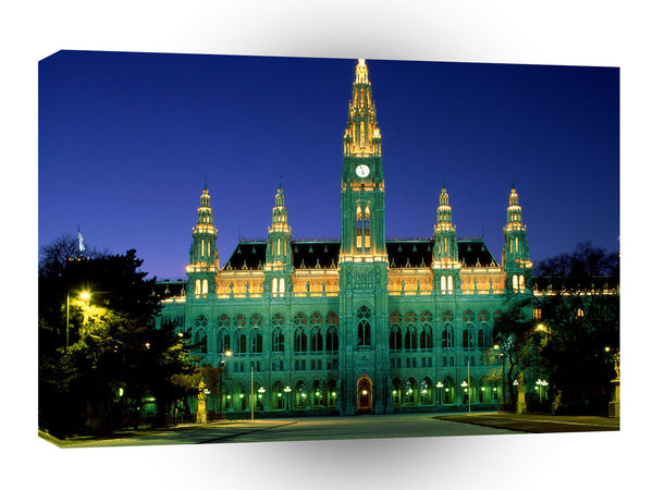 Austria City Hall Vienna A1 Xlarge Canvas