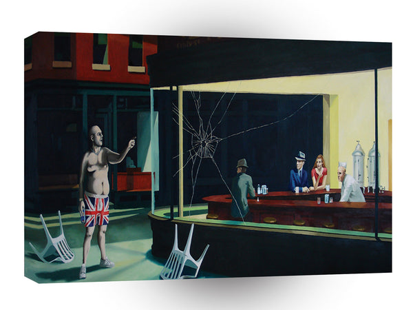 Banksy Nighthawks A1 Xlarge Canvas