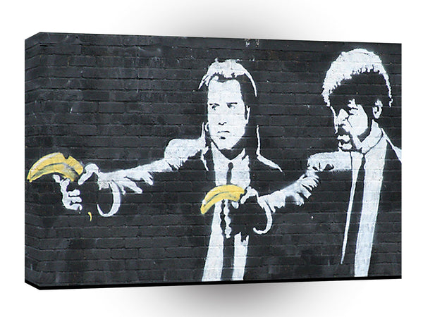 Banksy Pulp Fiction Banana A1 Xlarge Canvas