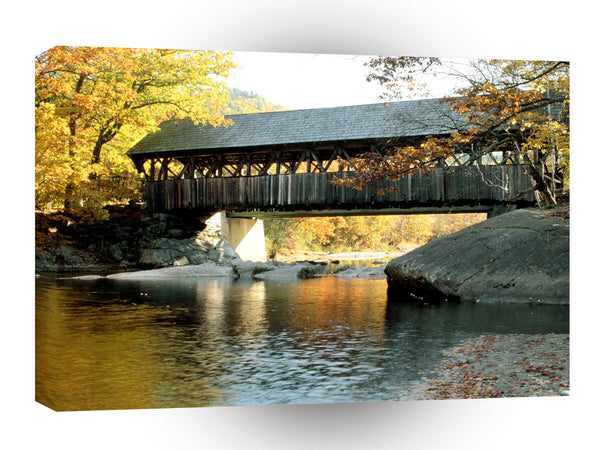 Bridges Artists Bridge Sunday River Newry Maine A1 Xlarge Canvas