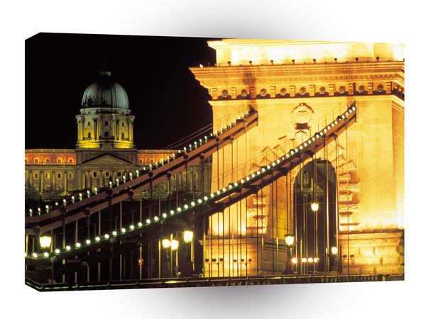 Bridges Budapest Hungary A1 Xlarge Canvas