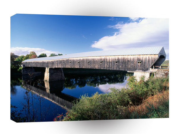 Bridges Cornish Windsor Covered Connecticut A1 Xlarge Canvas