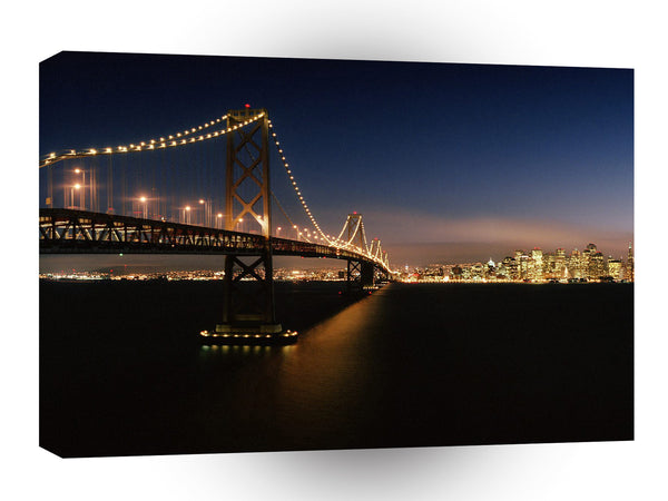 Bridges Evening Crossing Bay Bridge A1 Xlarge Canvas