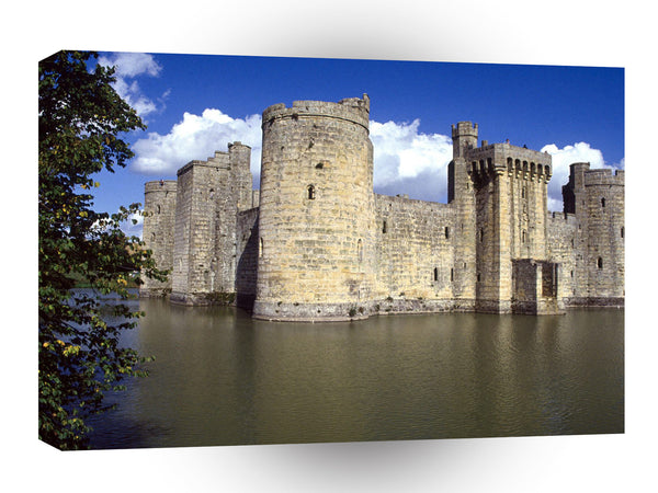 Britain Bodiam Castle And Moat East Sussex England A1 Xlarge Canvas