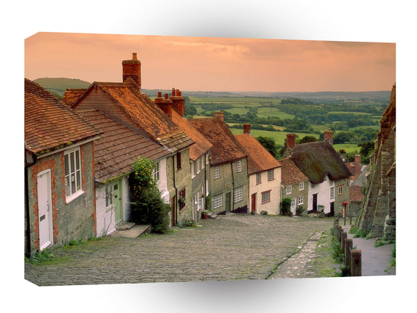 Britain Gold Hill Cottages Shaftesbury England A1 Xlarge Canvas