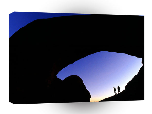 Canyon Arches At Twilight Utah A1 Xlarge Canvas