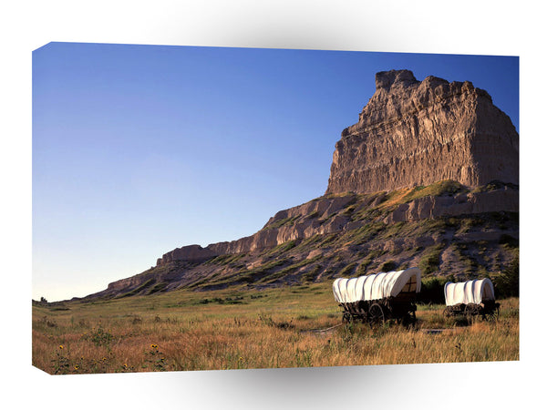 Canyon Eagle Rockwagons Monument Nebraska A1 Xlarge Canvas