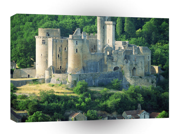 Castles Chateau Bonaguil Lot France A1 Xlarge Canvas