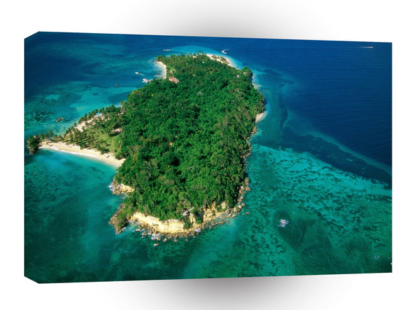 Central American Caribbean Cayo Levantado Dominican Republic A1 Xlarge Canvas
