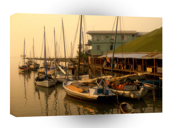Central American Caribbean Misty Harbor Belize A1 Xlarge Canvas