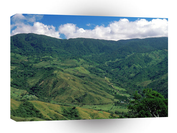 Central American Caribbean Mountain View Costa Rica A1 Xlarge Canvas