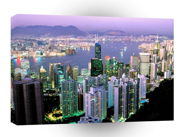 China Citylights Shining At Dawn Hong Kong A1 Xlarge Canvas