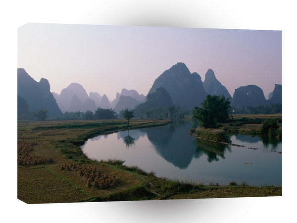China Karst Hills Li River Guangxi Province A1 Xlarge Canvas