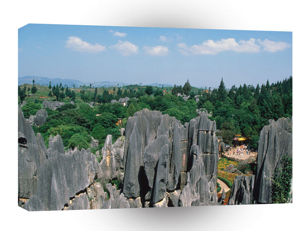 China Stone Forest Yunnan Province A1 Xlarge Canvas