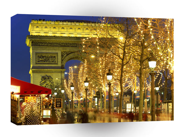 Christmas Arc De Triomphe Paris France A1 Xlarge Canvas