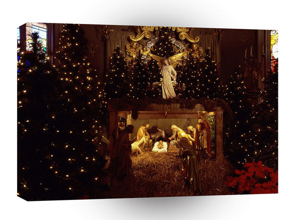 Christmas Blessed Is The King A1 Xlarge Canvas