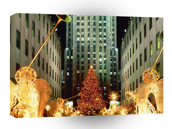 Christmas Christmas At Rockefeller Center New York A1 Xlarge Canvas