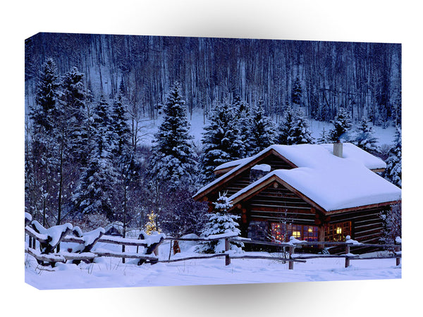 Christmas Christmas Chalet Colorado A1 Xlarge Canvas