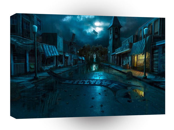 City Nightime Sleeping Streets A1 Xlarge Canvas