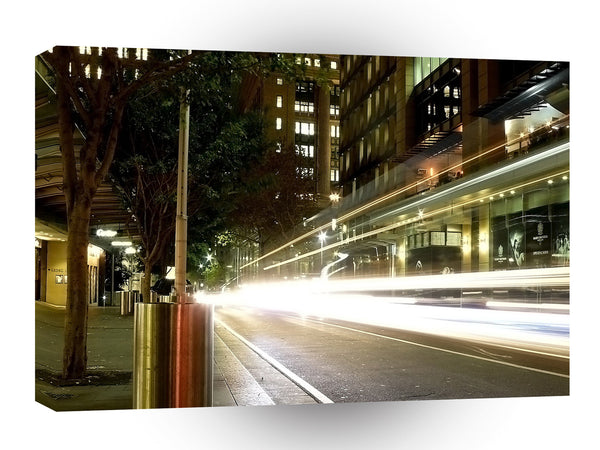 City Nightime Speedy Lights A1 Xlarge Canvas