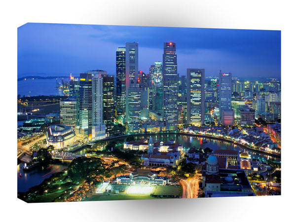 Cityscapes Aerial View Of Singapore A1 Xlarge Canvas