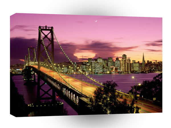Cityscapes Bay Bridge A1 Xlarge Canvas